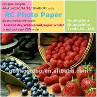 Premium RC Metallic Inkjet Printing Photo Paper, Double Sides Waterproof Resin Coated Metallic Photo Paper