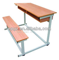 middle school student desk and chair/combo school desk and chair for middle and high school/furniture of classroom