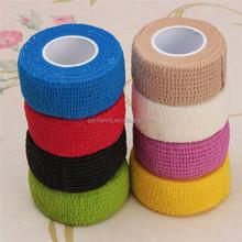 De alta qualidade supervalorizar 2.5 cm * 5 m colorido fita elástica esportes Physio músculos cuidados bandagem elástica atadura médica