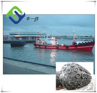 Floating dock to ship air filled rubber fenders