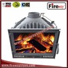 Quick delivery 180mm flue size insert cast iron wood fireplace