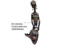 Polyresin black woman figurine for decoration