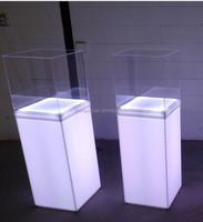 Free Standing LED Lights Plexiglass and Acrylic Display Pedestal
