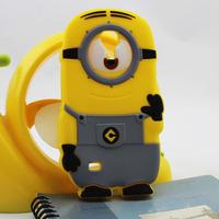 minions cartoon mobile phone cover for galaxy s4 mini 9190