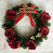 luxury rose christmas wreath decorations charming artificial ndoor christmas wreaths