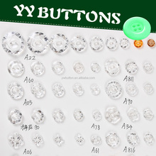 different types of transparent clear acrylic stone buttons
