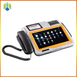 Lowest price android pos system with the function of voice recorder and music player,1D/2D barcode pos machine--Gc039B