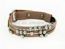 2014 Accessory pink modern crystal charms snap bracelet