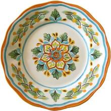 melamine flower full printing luxury plate royal plate