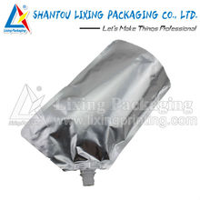 LIXING PACKAGING mini plain wine packaginbg stand up spout pouch bag
