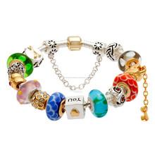 Pulsera, moda al por mayor hermosa plata chapada cuentas encanto pulsera
