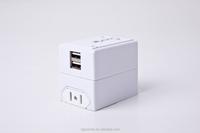 Travel Adapter USB Charger International with Dual [2.1A] USB Charging Ports (EU UK US AU )Plugs