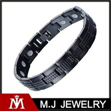 2015 newest hot sales stainless steel blood pressure ion power bio magnetic bracelet