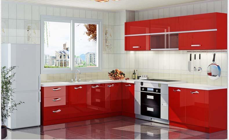High Gloss UV Finish Door Modern Kitchen Cabinets