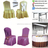 round back chair cover and table cloths