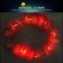 Ornamental Showy Sparkling Fiber Optic Christmas Garland