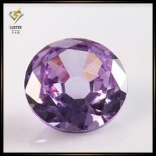 Wuzhou Hot Sell Loose Cubic Zirconia Stones Purple Zircon Earring