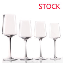 Sanzo stock glass Handmade Glassware Manufacturer etched crystal wine glasses