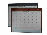 2013 leather desk calendar