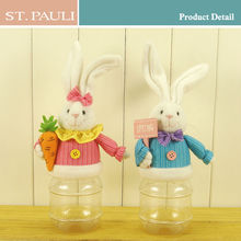 sedex audit factory plastic white easter bunny long ears plush rabbit toys