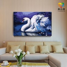 painting swan painting by numbers 50*80cm