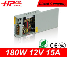 Factory wholesale price waterproof series constant voltage single output 180w 15 amp 12v quad output dc power supply