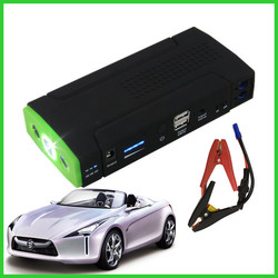 Green one battery Dual USB 16800mah 12v lithium car starter battery emergency tools
