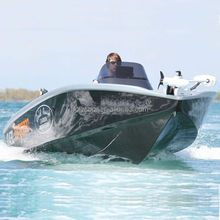 Small fiberglass speed boats made of composite material holypan