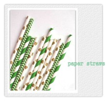 Straws table decorations