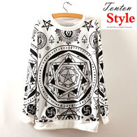 pullover wide hood plain gray comme down one direction korean cute hoodie