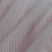 2015 New Design nylon warp knitting light pink snowflower jacquard mesh Fabric, lingerie fabric