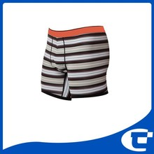 Mens cotton yarn dyed fabric stripe fitted boxer brief