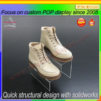 Wholesale cheap acrylic shoe display stand/shoe storage box made in China