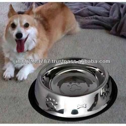 Steel Anti skid embossed pet bowl/dog bowl/cat bowl/ feeders