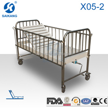 HOT!!! X05-2 Single Crank Back adjustable Clinic Children Manual Bed