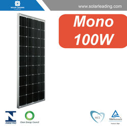 TUV approved 100W best price per watt solar panels connect to pv solar panel inverter for Chile market