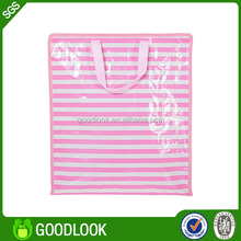 cumputer sewing durable recycle woven plastic beach bag GL184