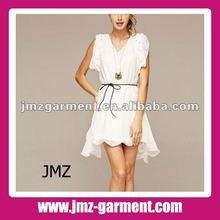 2012 1 piece women casual fashion dress/white/dress manufacture