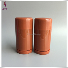 Round brown plastic deodorant stick container packaging