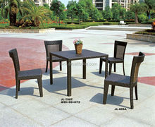Rattan Aluminum Dining Wicker Coffee Bistro Table and Chair