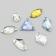 Triangle Shape Flat Back Sew On Rhinestones With Diamond Shape Flat Back Rhinestones Fashion Accessories