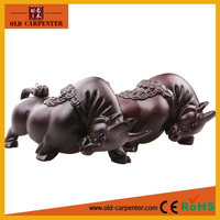 Monzo unique hand carved wood carvings one pair of cows 19*8*10cm ornaments creative gifts