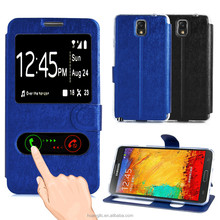 PC Back Protective PU Leather Shell phone Case For Samsung Galaxy Note 3