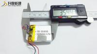 new battery Good selling rechargeable li-polymer battery SD 353035 3.7v 300mah lipo battery