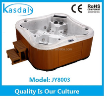 Corner Drain Location and Acrylic Material 5 Person Deluxe outdoor spa hot tub