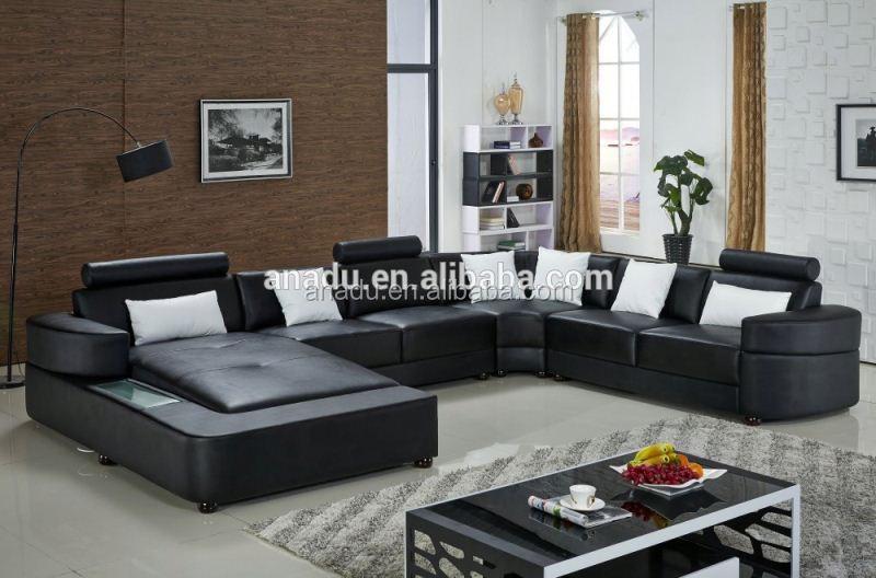 big leather sofa set living room furniture design antique wooden sofa