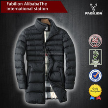 winter thick warm long down Cotton new man model clothes for softshell jacket