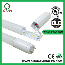 High lumen AC100-277V SMD2835 120LM/W UL cUL DLC CSA internal driver T8 led tube 5 years warranty