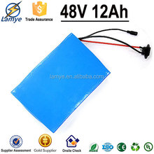 China Factory customs electric bike battery pack 36v 10ah 48V 12aH with charger BMS 6P13S