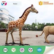 Outdoor playground zoo equipment life size giraffe